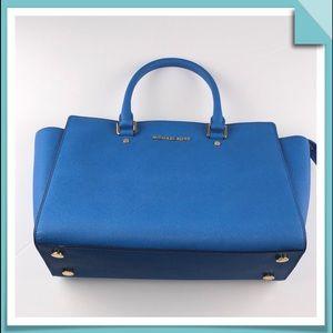 Michael Kors Blue Satchel / Shoulder Bag